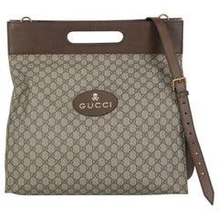Gucci  Women   Shoulder bags  Beige, Brown Synthetic Fibers