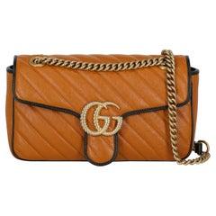 Gucci  Women Shoulder bags  Marmont Black, Camel Color Leather
