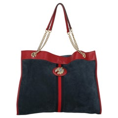 Gucci  Women   Shoulder bags   Navy, Red Leather