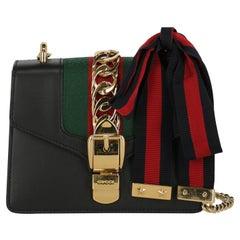 Gucci Women  Shoulder bags Sylvie Black Leather