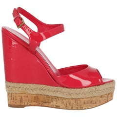 Gucci Women  Wedges Pink Leather IT 35