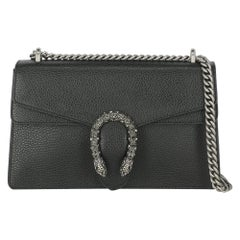 Gucci Women's Crossbody Bag Dionysus Black Leather