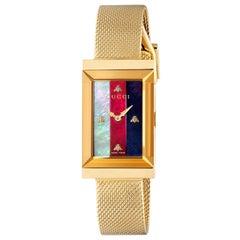 Gucci Women's G-Frame Mesh Bracelet Strap Watch, Gold/Multi YA147410