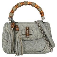 Gucci Women's Handbag Bamboo Grey Leather