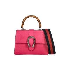 Gucci Women's Handbag Dionysus Pink Leather