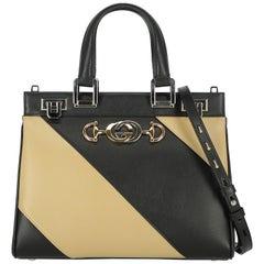 Gucci Women's Handbag Zumi Beige/Black Leather