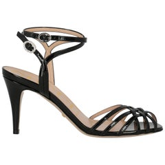 Gucci Women's Sandals Black Leather IT 37