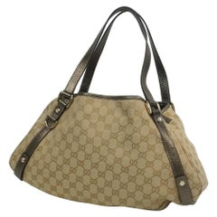 GUCCI Womens shoulder bag 130736 beige x bronze