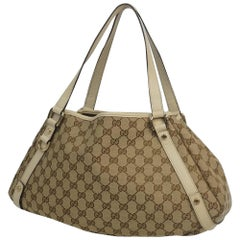 GUCCI Womens shoulder bag 130736 beige x ivory