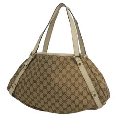 GUCCI Womens shoulder bag 130736 beige x ivory