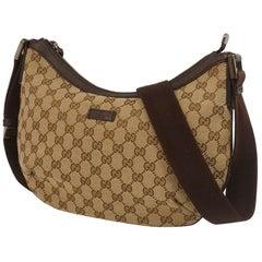 GUCCI Womens shoulder bag 181092 002123 beige x brown