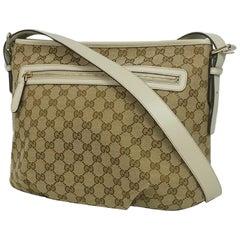 GUCCI Womens shoulder bag 388930 beige x brown