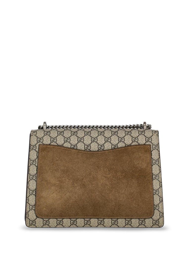 Gucci Women's Shoulder Bag Dionysus Beige/Multicolor Synthetic Fibers In Excellent Condition For Sale In Milan, IT