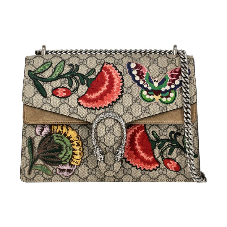 Gucci Women's Shoulder Bag Dionysus Beige/Multicolor Synthetic Fibers For Sale