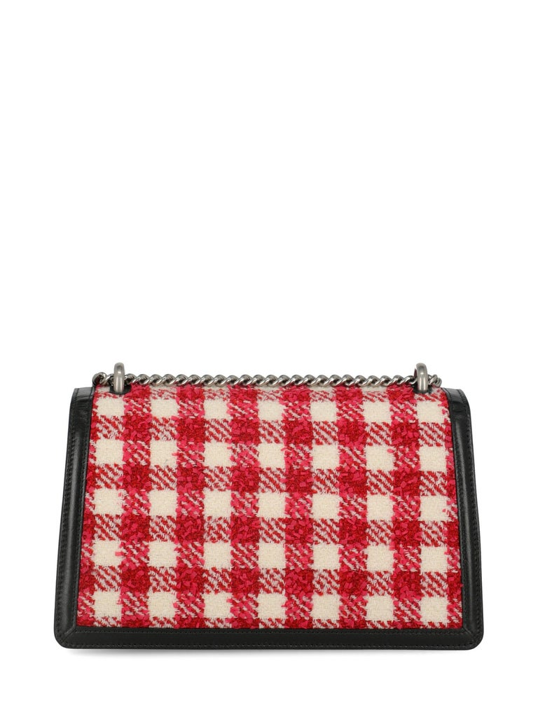 Gucci Women's Shoulder Bag Dionysus Black/Red/White Fabric In Excellent Condition For Sale In Milan, IT