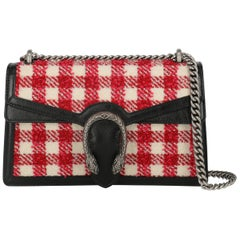 Gucci Women's Shoulder Bag Dionysus Black/Red/White Fabric