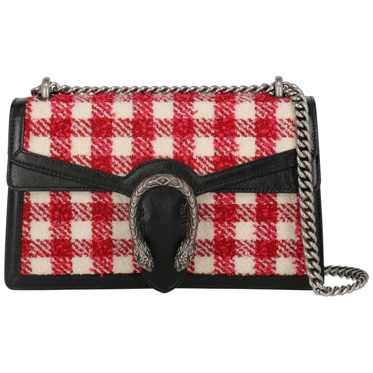 Gucci Women's Shoulder Bag Dionysus Black/Red/White Fabric For Sale