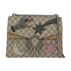 Gucci Women's Shoulder Bag Dionysus Grey Synthetic Fibers