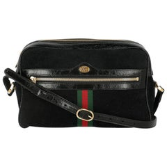 Gucci Women's Shoulder Bag Ophidia Black Leather