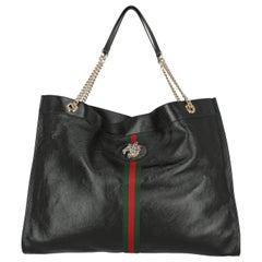Gucci Women's Shoulder Bag Rajah Black Leather