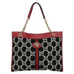 Gucci Women's Shoulder Bags Rajah Black/Red Leather