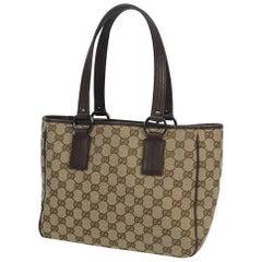 GUCCI Womens tote bag 113019 beige x brown