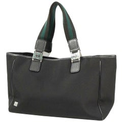 GUCCI Womens tote bag 145758 black x green