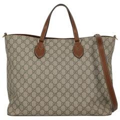 Gucci Women's Tote Bag Beige Synthetic Fibers