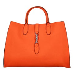 Gucci Women's Tote Bag Jackie Orange Leather