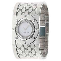 Gucci Women's YA112416 Twirl Diamond Cuff Watch