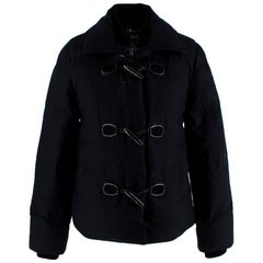 Gucci Wool Feather Down Duffle Bomber Jacket - Size US4