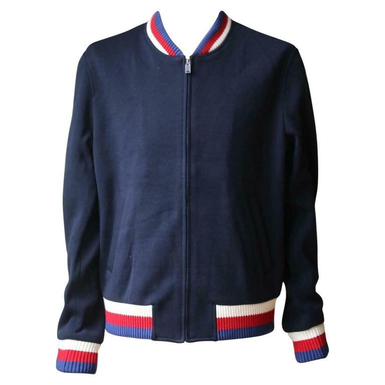 Gucci Wool Jersey Bomber Jacket For Sale