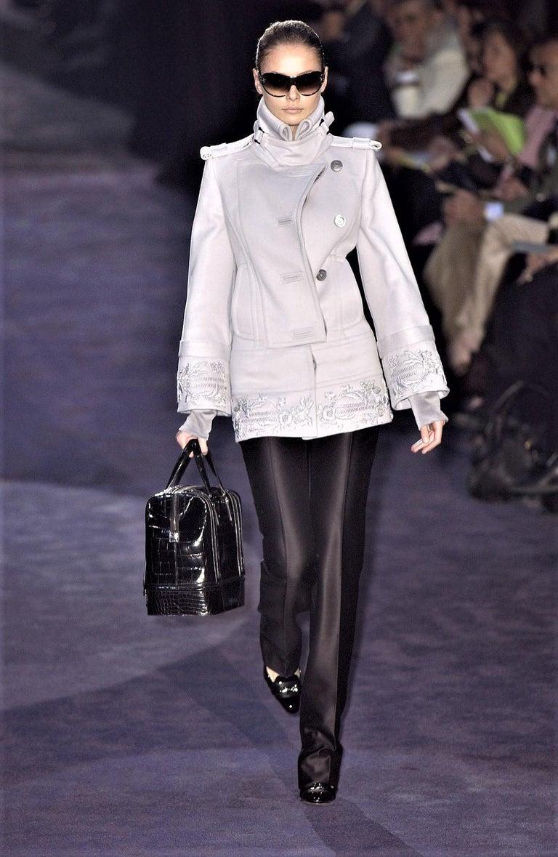 New Gucci Wool & Silk Runway Pants F / W 2005 Sz 44 U.S. 8 For Sale 6