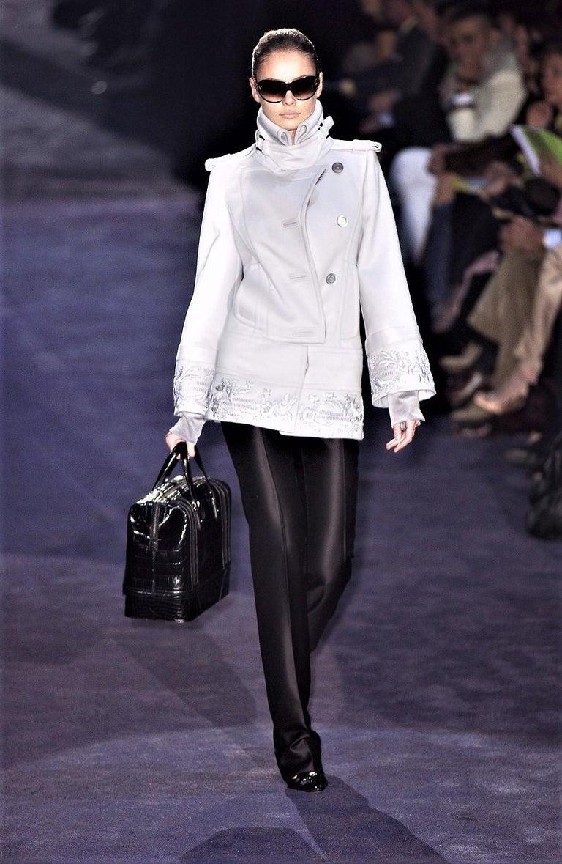 New Gucci Wool & Silk Runway Pants F / W 2005 Sz 44 U.S. 8 For Sale 1