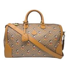 Gucci X Disney Mickey Mouse Monogram Duffel Travel Bag