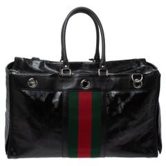 Gucci x Fiat Black GG Imprime Canvas and Leather Special Edition Pet Carrier Bag