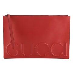 Gucci XL Zip Clutch Leather