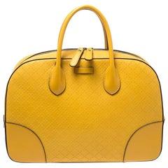 Gucci Yellow Bright Diamante Leather Satchel