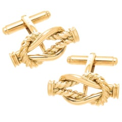Gucci Yellow Gold Knot Cufflinks