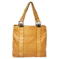 Gucci Yellow Guccissima Leather Large Bamboo Bar Tote