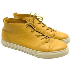 Gucci Yellow Leather Lace Up Shoes SIZE 42