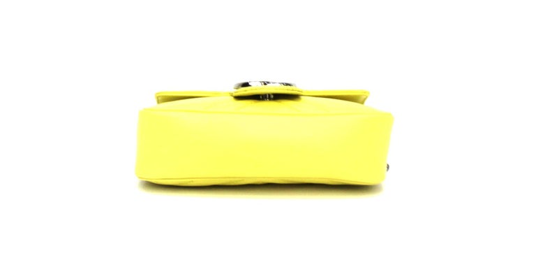 Gucci Yellow Leather Marmont Bag In New Condition In Torre Del Greco, IT