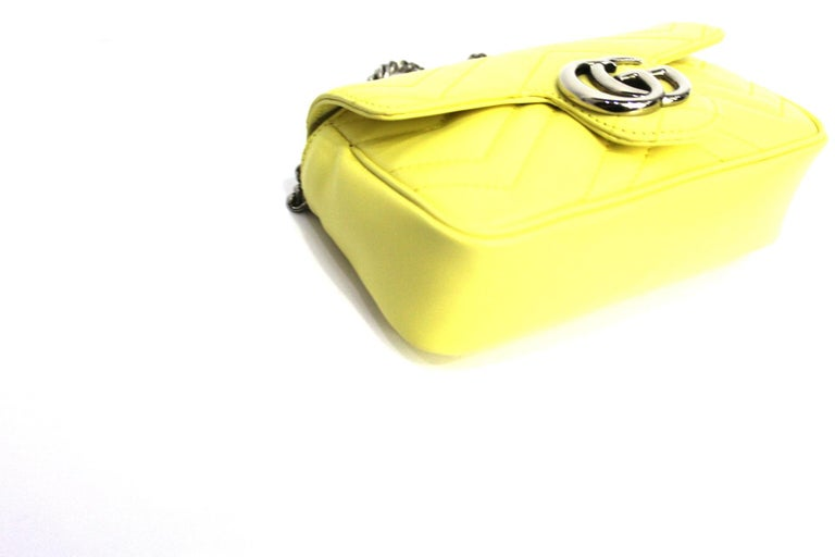 Women's Gucci Yellow Leather Marmont Bag
