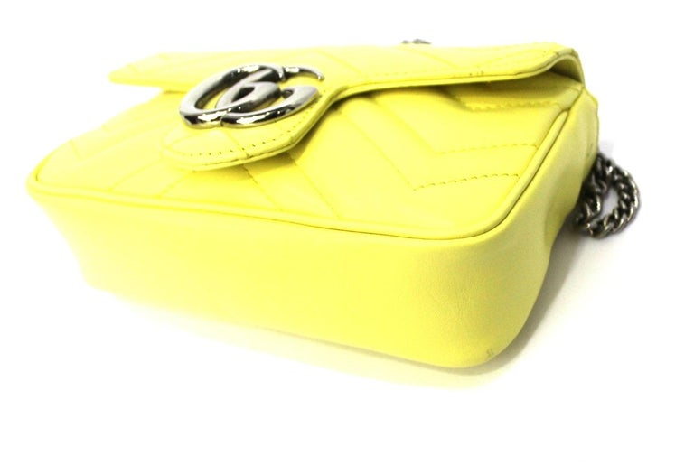 Gucci Yellow Leather Marmont Bag 1