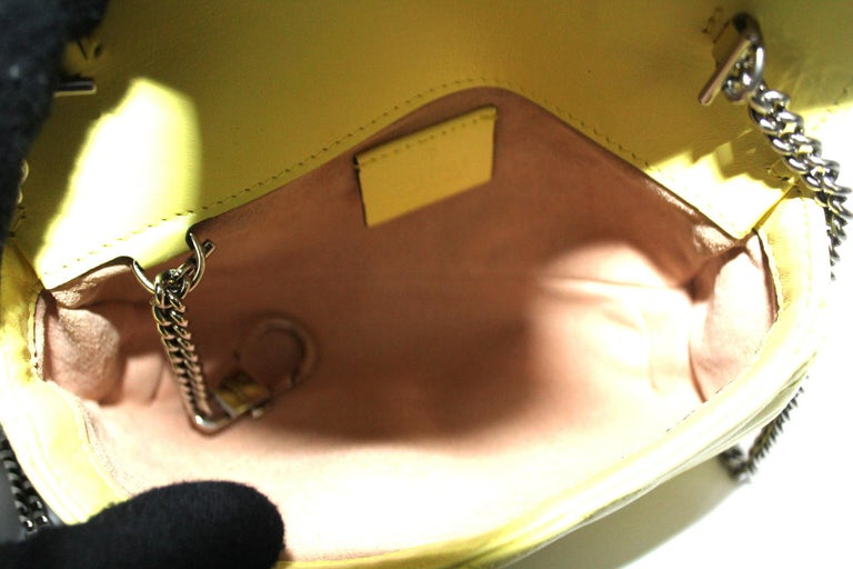 Gucci Yellow Leather Marmont Bag 3