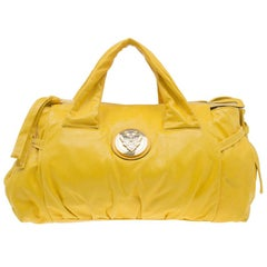 Gucci Yellow Leather Small Hysteria Satchel