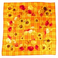 Gucci Yellow Sunflower Silk Scarf