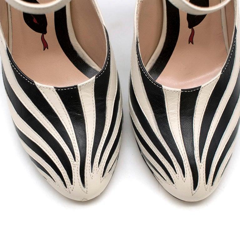 Gucci Zebra Leather Pumps 5.5  For Sale 1
