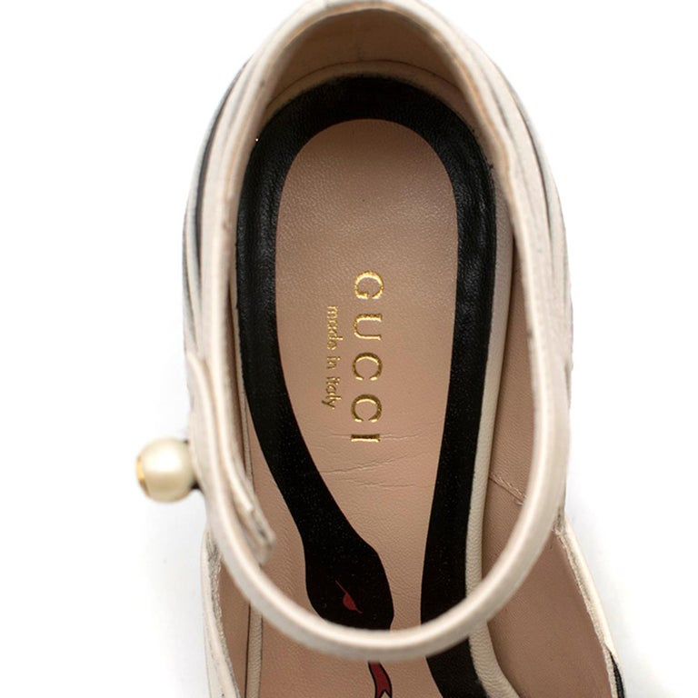 Gucci Zebra Leather Pumps 5.5  For Sale 2