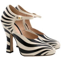 Gucci Zebra Leather Pumps 5.5
